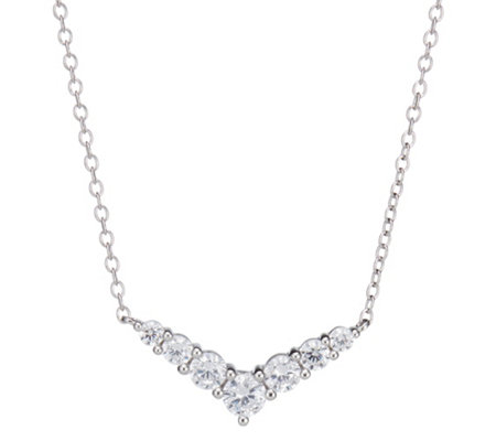 DIAMONIQUE® TRENDS Collier = 0,52ct Silber rhodiniert