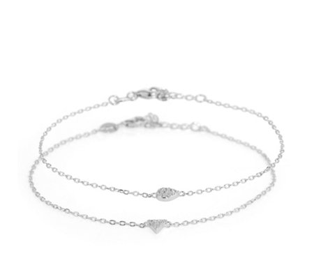 DIAMONIQUE® TRENDS Armband Set = 0,15ct Silber 925