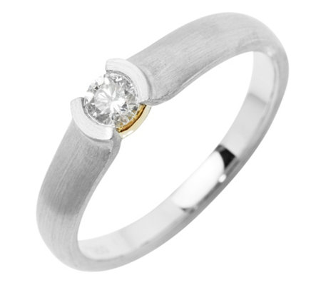 Ring 1 Brillant ca. 0,20ct Weiß/SI Platin 950/Gold 750