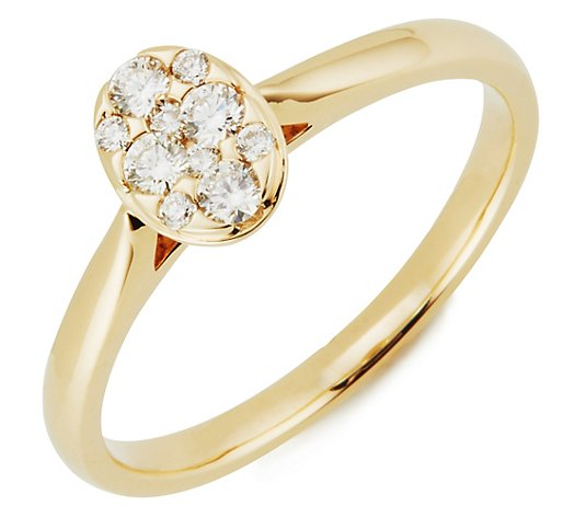 Ring 10 Brillanten zus. ca. 0,25ct Weiß/SI Gold 585