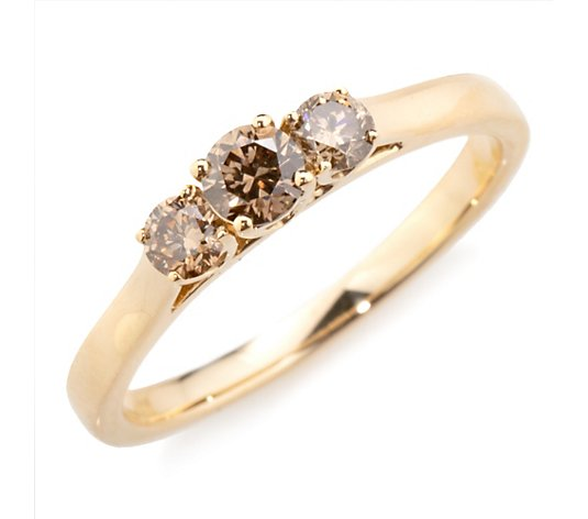ARGYLE Trilogie-Ring 3 Brillanten zus. ca. 0,50ct Gold 585