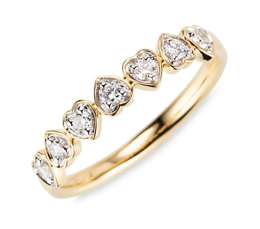CANADIAN DIAMONDS Ring 7 Brillanten zus. ca. 0,25ct Gold 750
