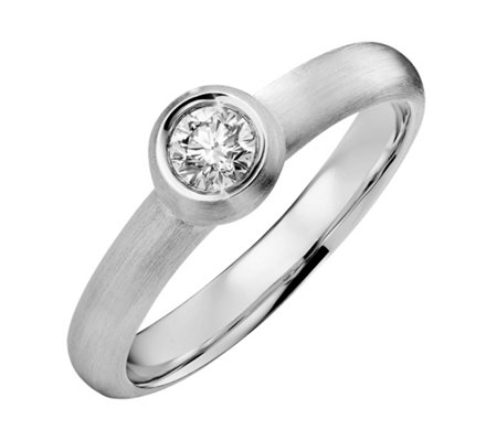 Ring 1 Brillant ca. 0,25ct Weiß/lupenrein Platin 999