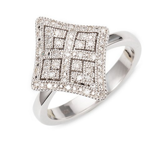 ART DECO DIAMONDS Ring 39 Diamanten zus. ca. 0,20ct Silber 925