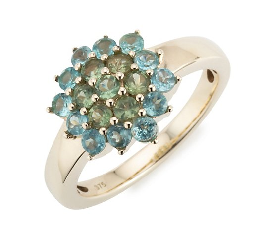 ROYELLE Apatit Ring zus. ca. 0,76ct Gold 375