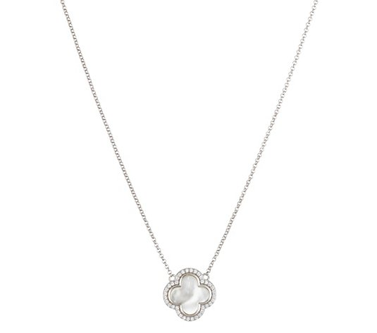 DIAMONIQUE® Collier = 0,18ct Brillantschliff Silber 925