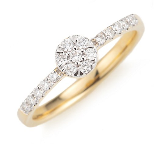 CANADIAN DIAMONDS Entourage-Ring 17 Brillanten zus. ca. 0,25ct Gold 750