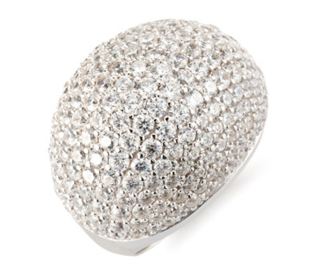 DIAMONIQUE® Ring = 4,35ct Brillantschliff Silber rhodiniert