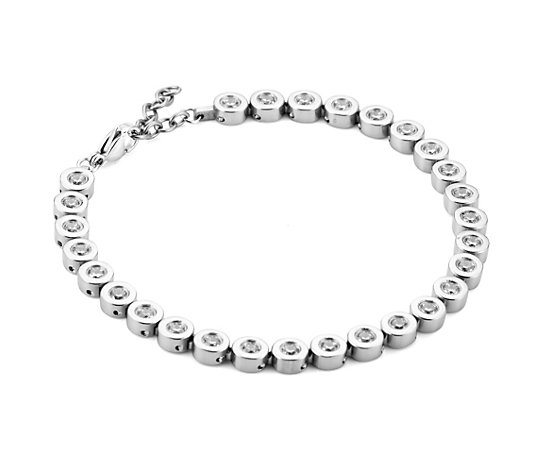 DIAMONIQUE® TITAN Armband = 4,48ct Brillantschliff