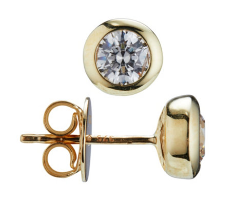 DIAMONIQUE® GOLD 375 Ohrstecker = 1,40ct Brillantschliff