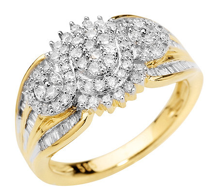 GLAMOUR DIAMONDS 108 Diamanten zus.ca.0,75ct. Weiß/P1 Ring, Gold 585