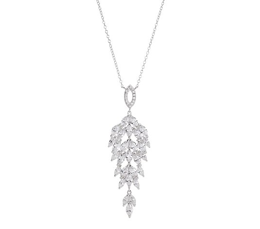 DIAMONIQUE® Collier = 9,96ct Schliffmix Silber rhodiniert