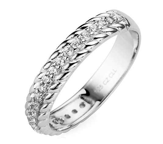 DIAMONIQUE® Ring = 0,50ct Brillantschliff Silber rhodiniert