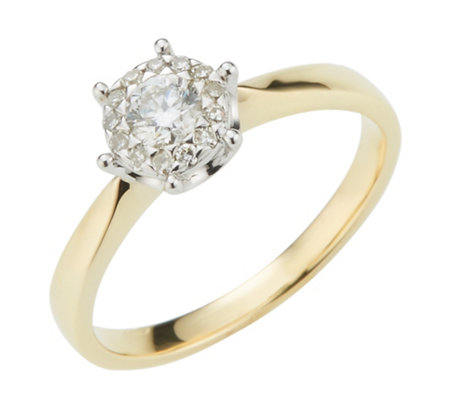 Mirage-Ring 14 Diamanten zus. ca. 0,30ct Weiß/Piqué1 Gold 585
