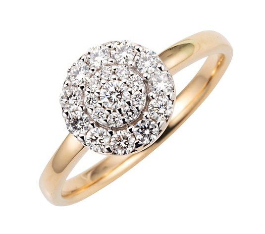 DIAMOUR Kreisring 21 Brillanten zus. ca. 0,50ct Gold 585