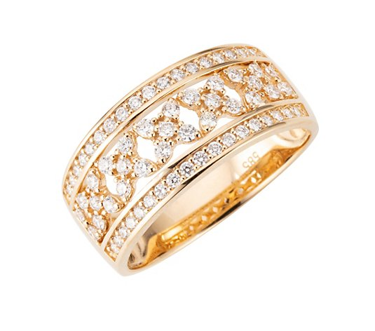 DIAMOUR Ring 65 Brillanten zus. ca. 0,65ct Gold 585