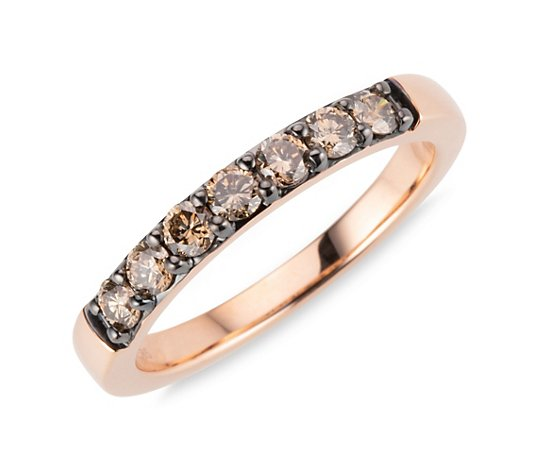 COLOUR DIAMONDS Ring 7 Brillanten zus. ca. 0,50ct Gold 585