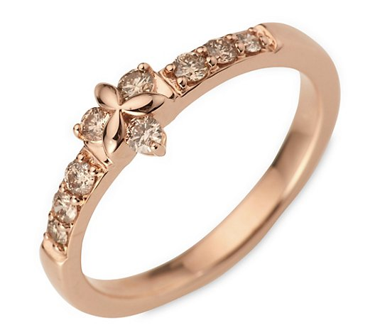 ARGYLE Ring 9 Brillanten zus. ca. 0,33ct Roségold 585