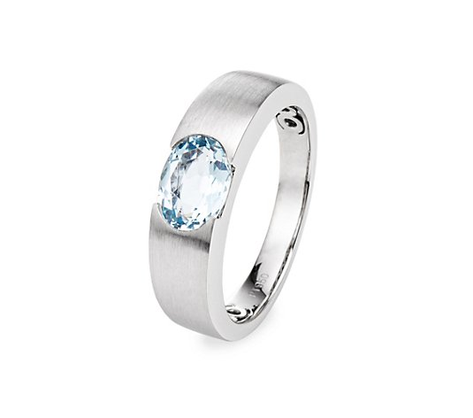 PLATINITY Ring Aquamarin ca. 1,20ct Platin 950
