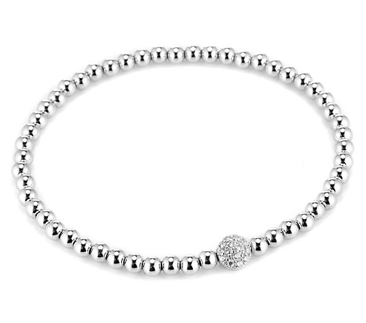 DIAMONIQUE® TRENDS Armband = 0,14ct Silber rhodiniert