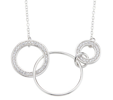 DIAMONIQUE® TRENDS Collier = 0,27ct Silber rhodiniert