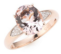 Morganit AAA / 2,25ct Ring Ovalschliff Brillanten 0,06ct Roségold 585 - 607059