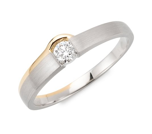 PLATINITY Ring 1 Brillant ca. 0,20ct Platin 950/Gold 750