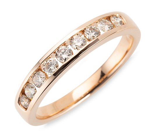 ARGYLE Ring 9 Brillanten zus. ca. 0,50ct Roségold 585