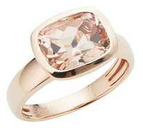 Morganit AAA / 2,50ct Ring Kissenschliff 10x8mm Roségold 585 - 607061