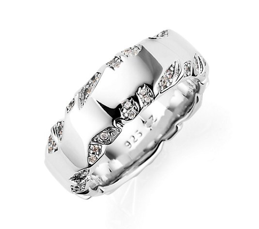 DIAMONIQUE® Ring = 0,25ct Brillantschliff Silber rhodiniert