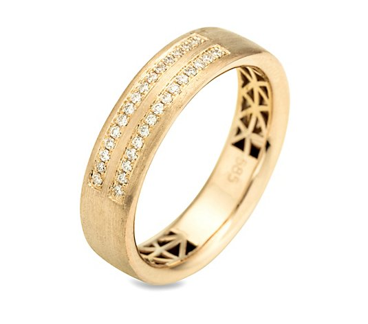 30 Brillanten Ring zus.ca. 0,15ct. Weiß/ lupenrein Gold 585