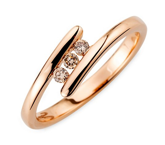 ARGYLE Ring 3 Brillanten zus. ca. 0,10ct Roségold 585