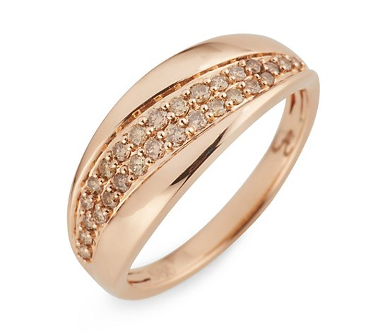 ARGYLE Ring 28 Brillanten zus. ca. 0,33ct Roségold 585