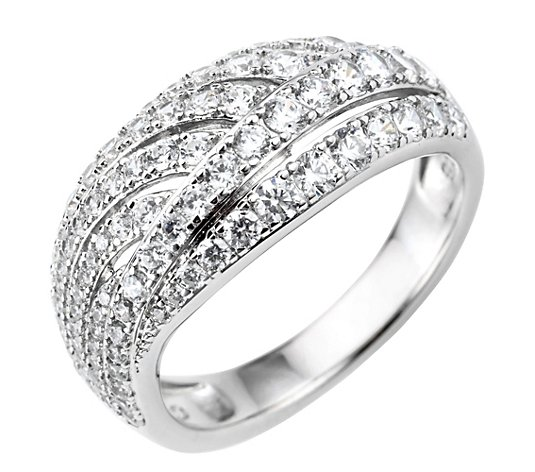 DIAMONIQUE® Ring = 1,14ct Brillantschliff Silber rhodiniert