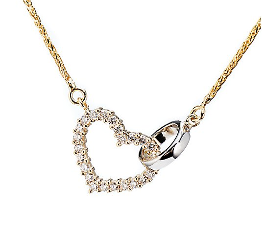 Collier 24 Brillanten zus. ca. 0,20ct Weiß/Piqué 1 Gold 585
