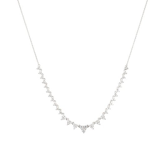 DIAMONIQUE® Collier = 2,04ct Brillantschliff Silber rhodiniert