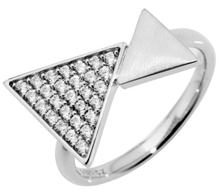 DIAMONIQUE® TRENDS Ring = 0,28ct Silber rhodiniert
