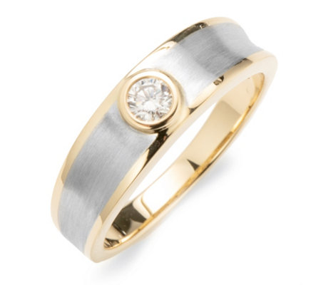 1 Brillant Ring ca. 0,15 ct Weiß/SI Platin 950 / Gold 750