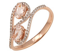Morganit AAA / 0,75ct Ring Brillanten 0,17ct Roségold 585 - 607576