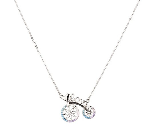 DIAMONIQUE® Collier = 0,21ct Brillantschliff Silber rhodiniert