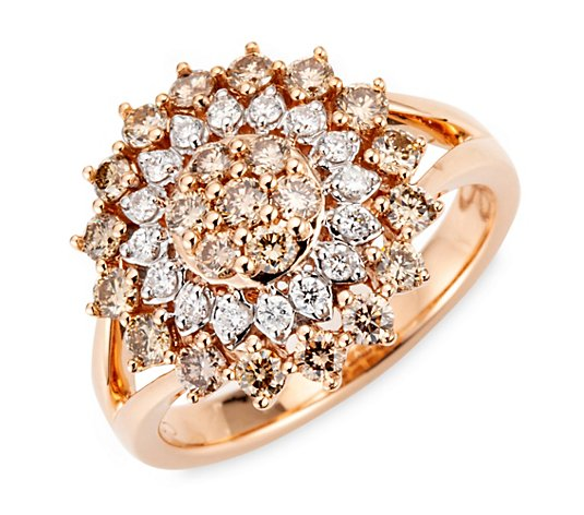 ARGYLE Ring 39 Brillanten zus. ca. 1,00ct Roségold 585