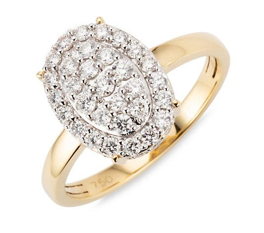 CANADIAN DIAMONDS Ring 47 Brillanten zus. ca. 0,75ct Gold 750