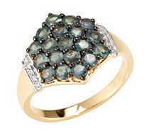 Alexandrit 1,80ct Ring Rundschliff Brillanten 0,08ct Gold 585 - 607382