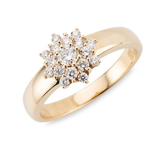 DIAMOUR Ring 17 Brillanten zus. ca. 0,50ct Gold 585