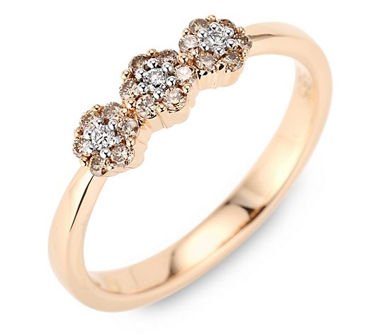 ARGYLE Ring 21 Brillanten zus. ca. 0,25ct Roségold 585