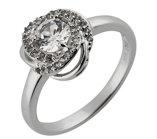 DIAMONIQUE® Ring = 0,65ct Brilliantschliff Silber rhodiniert