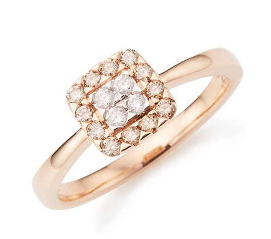 ARGYLE Entourage-Ring 16 Brillanten zus. ca. 0,30ct Roségold 585