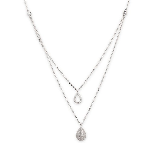 DIAMONIQUE® Collier = 0,38ct Brillantschliff Silber rhodiniert