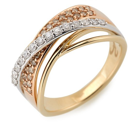 ARGYLE Ring 44 Brillanten zus. ca. 0,50ct Gold 585