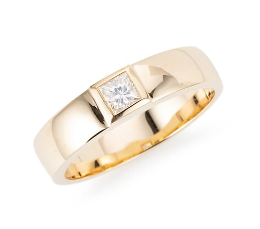 DIAMOUR Solitär-Ring 1 Diamant ca. 0,20ct Princessschliff Gold 585